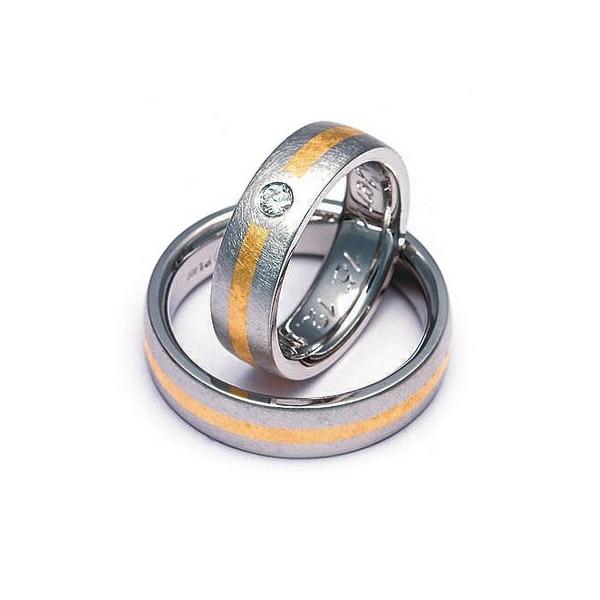 Wedding Rings Made Of Platinum Iridium Alloy 800PT And Gold 990Au For Her A Brillant Artist Mario Sarto