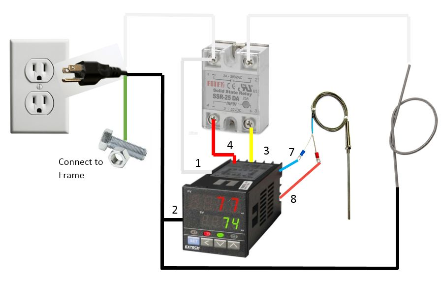 temperature controller solid state relay wiring diagram making your own burnout oven - jewelry discussion ... ac solid state relay circuit diagram