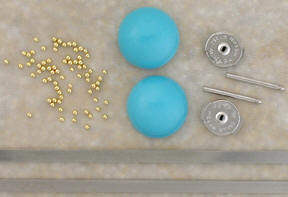 22K Gold Granulation on Turquoise Earrings Using Welding Technology