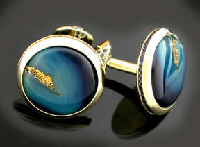 AGTA 2004 Spectrum Award Winning Cufflinks by Bill Holman