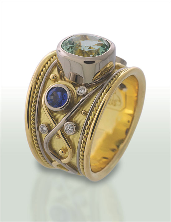 Renaissance Ring By Andrew Costen Ganoksin Jewelry