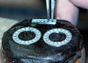 950 Palladium and Cultured Tahitian Pearl Earrings