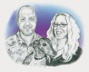 Scott and Jennifer Janiak-Ross of Skinny Dog Design Group, Inc.