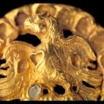 Clasp with an eagle and its prey