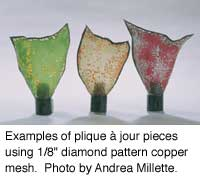 Examples of copper mesh plique a jour