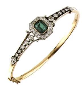 Repairing an emerald and diamond bracelet using laser technology