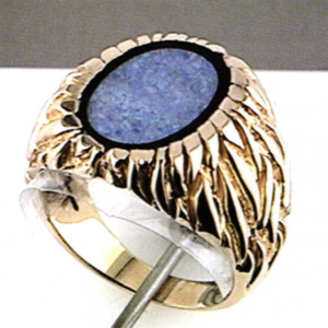 Laser Welding Solid Back on Opal Ring