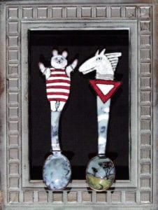 Spoons by Radka Urbanova, 2007, enamel on copper, 10x15 cm