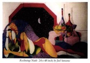 Reclining Nude 24 x 48 inch by Joel Sansone