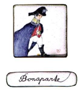 Miniature 4, 2007, enamel on copper, 3x3 cm
