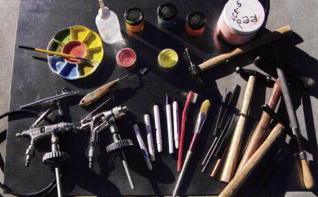 Tools and materials used in the making of