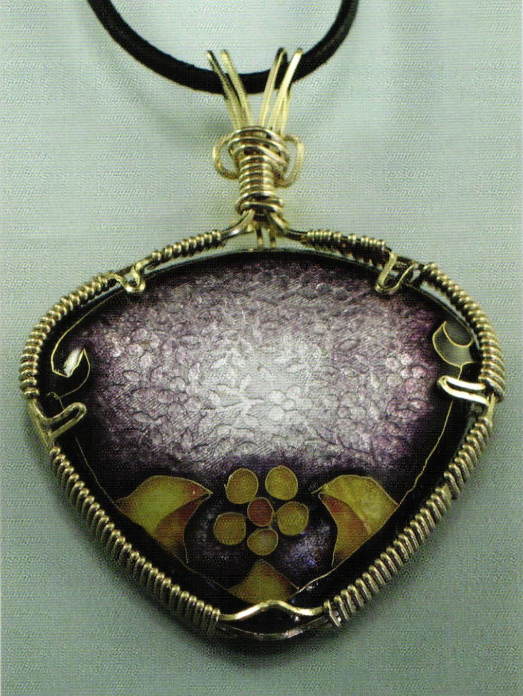 Wire Wrapping Enamel Pieces - Ganoksin Jewelry Making Community