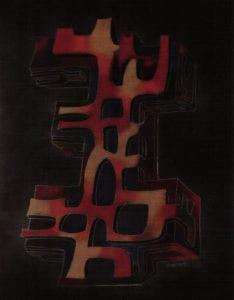"""lmage #2 by Joseph Trippetti, 2008. Enamel on steel, '16"""" x 14"""""""