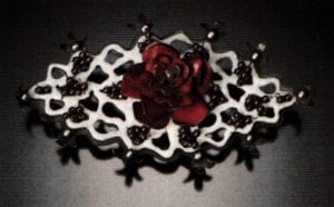 """Lace Rose"" 6x3x1 inch"