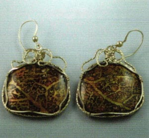 Wire-wrap Earrings by lngrid Regula.