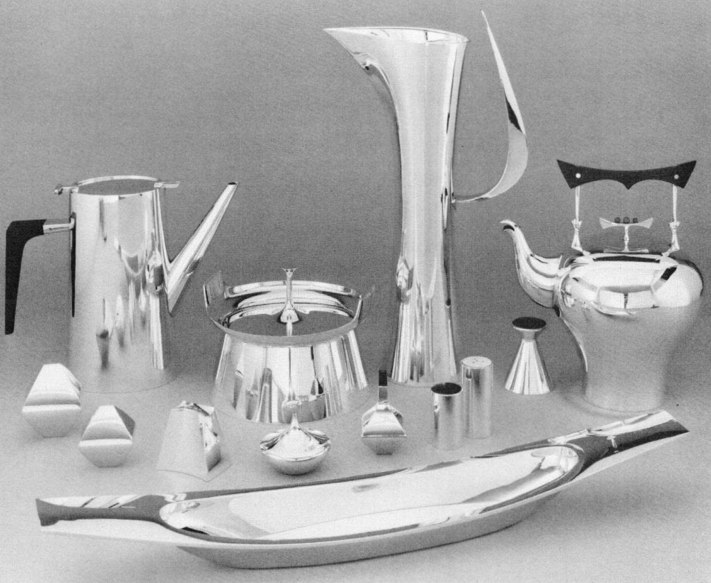 Holloware, sterling, made for Reed and Barton, 1957-59