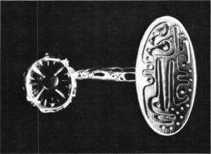Modernist Style Jewelry - Bob Winston, Coat Fastener