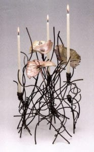 Susan Kingsley - Enlightened Embranglement with Three Flowers, 1989