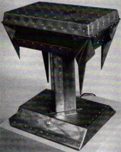 Art and Technics: Materials - Dale Wedig, Fudge Pan Camp Lamp
