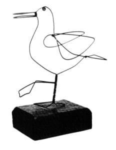 Alexander Calder - Seagull, wire, c. 1950