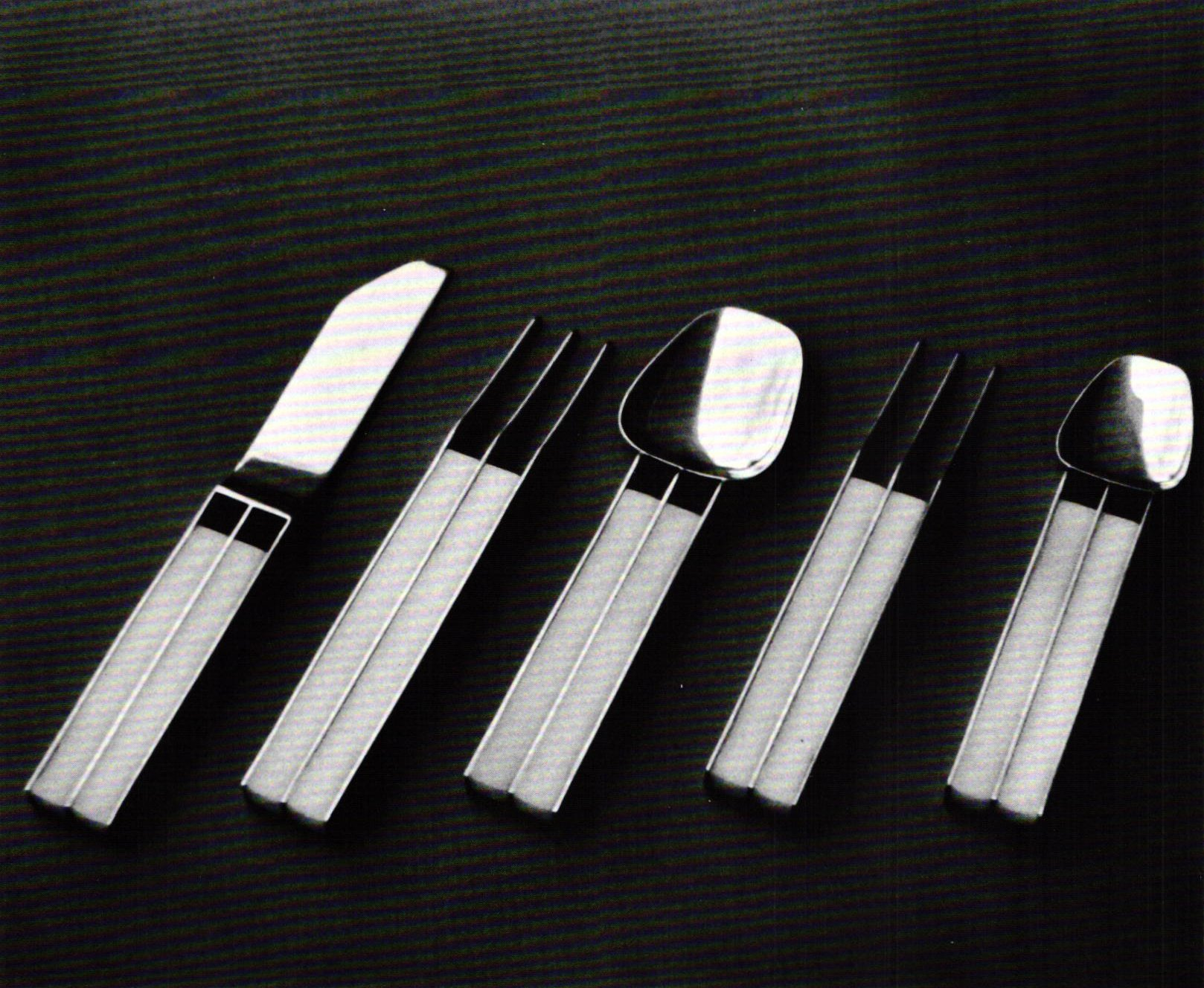 designing contemporary flatware  ganoksin jewelry making community - (figure ) john j horn silhouette pattern flatware sterling silverdelrin