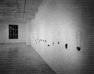 "Rezac Gallery - Otto Künzli installation ""Everything Goes to Pieces,"" 1989"