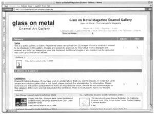 online enamel art gallery