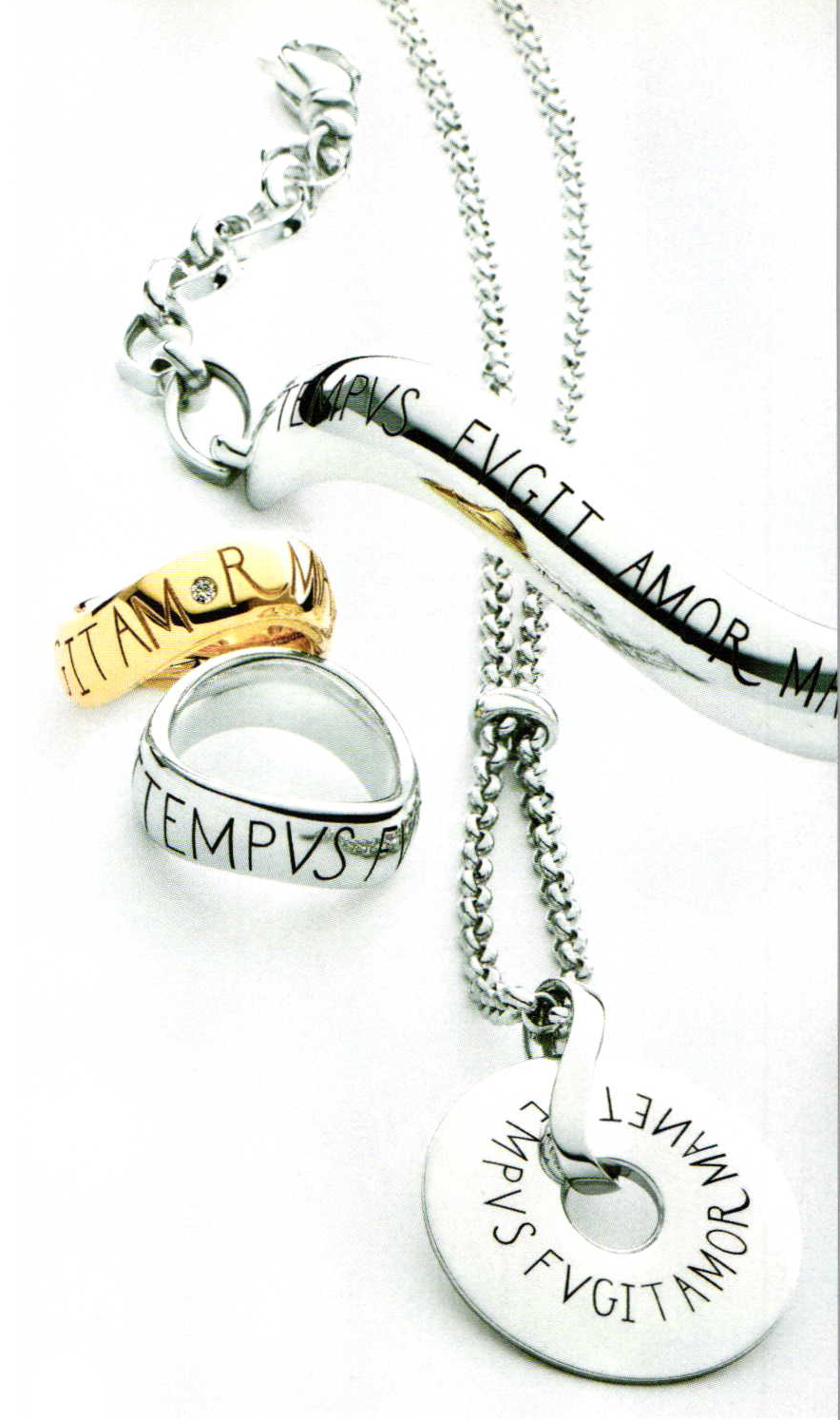 Golden messages ganoksin jewelry making community faithfulness is en vogue in our mercurial age the jewelry in the wempe silver collection is the proof tempus fugit amor manet time passes love abides biocorpaavc